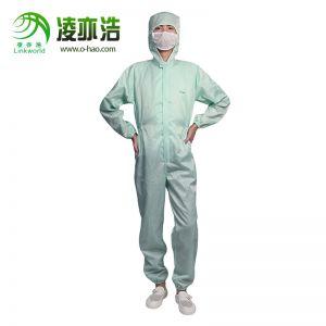 绿色连帽连体防静电服LH-101-A